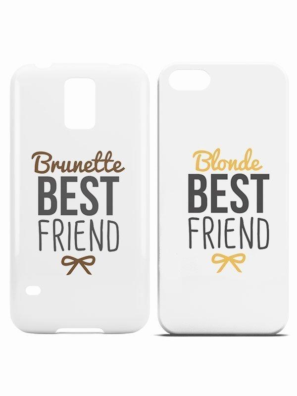 best friend blond telefoon hoesje