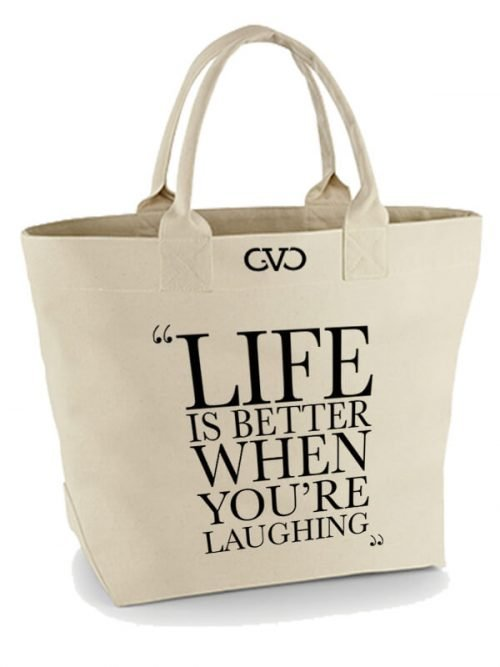 Good Vibes Only Canvas Quote Tote Bag Life is better