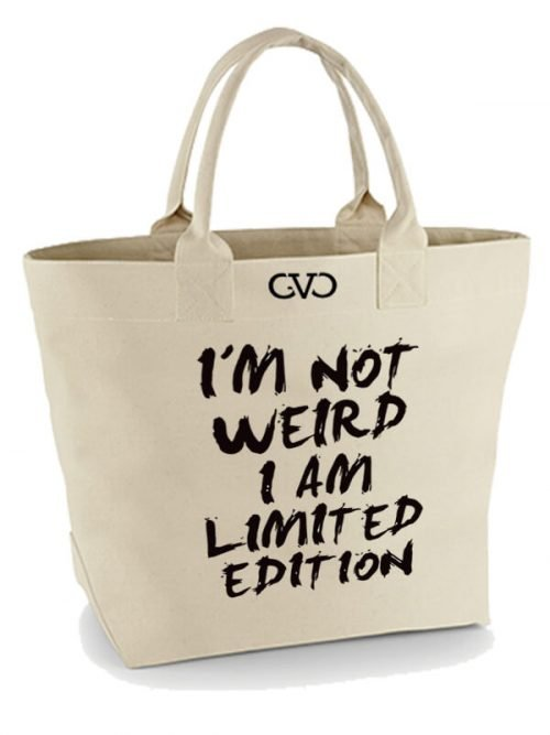 Good Vibes Only Canvas Tote Bag I m not weird