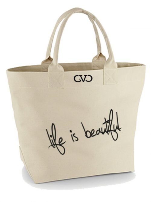 Good Vibes Only Canvas Tote Bag Life is Beautiful