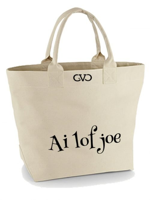 Good Vibes Only Canvas Tote Bag ai lof joe