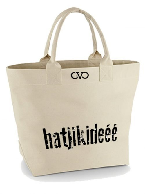 Good Vibes Only Canvas Tote Bag hartjikidee