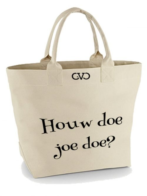 Good Vibes Only Canvas Tote Bag houw doe joe doe