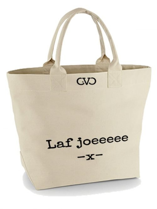 Good Vibes Only Canvas Tote Bag laf joeeee