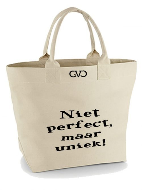 Good Vibes Only Canvas Tote Bag niet perfect maar uniek