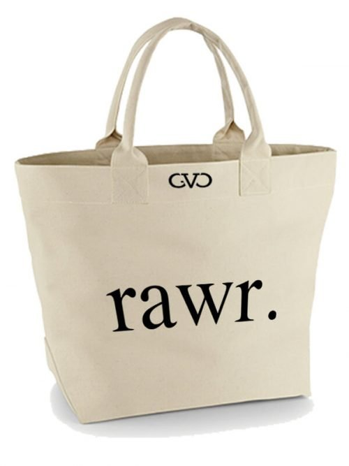 Good Vibes Only Canvas Tote Bag rawr