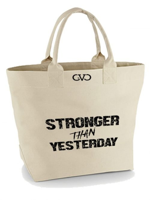 Good Vibes Only Canvas Tote Bag stronger than yesterday