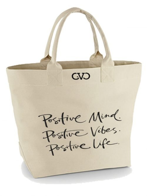 Good Vibes Only canvas tote bag positive mind