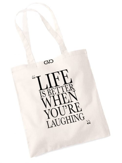good vibes only shopper tas life is better when you're laughing