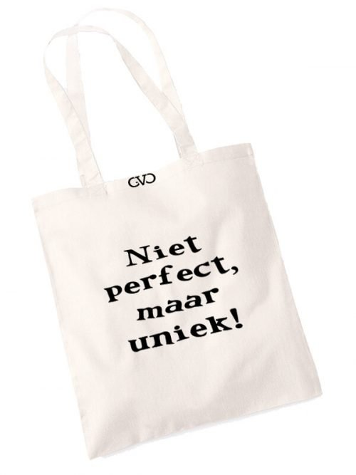 good vibes only shopper tas niet perfect maar uniek