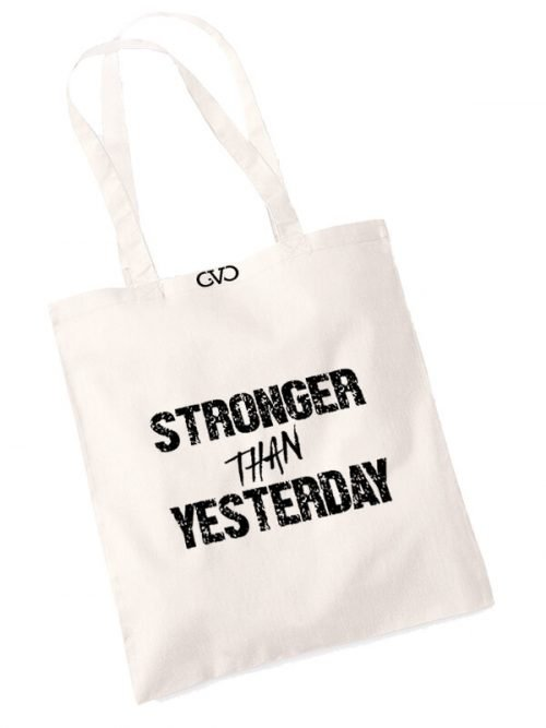 good vibes only shopper tas stronger than yesterday