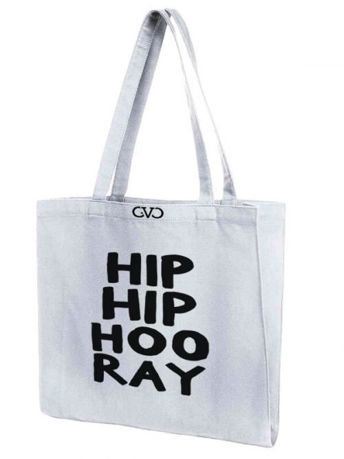 tote bag quote hip hip hoo ray