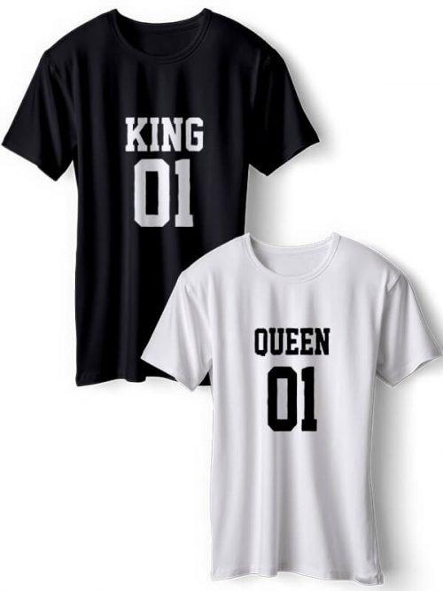 01 King 01 Queen Koppel T-Shirts