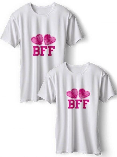 BFF T-Shirts Wit Roze