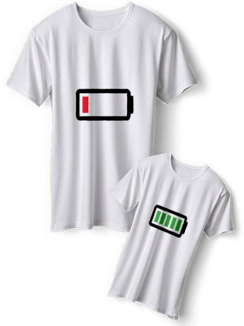 Batterij Moeder Mochter T-Shirts
