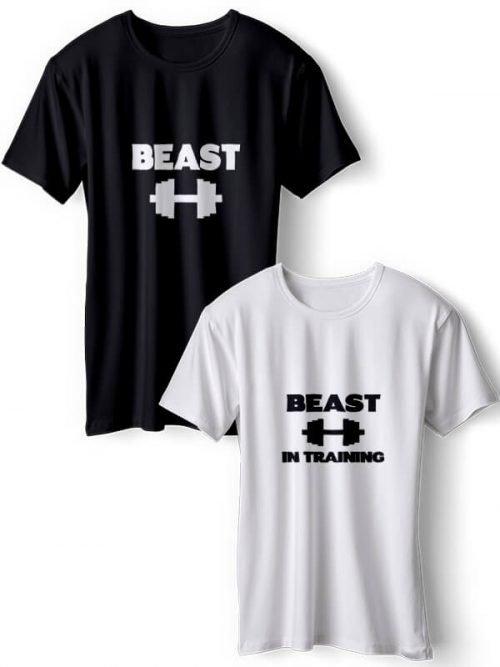 Beast - Beast In Training Best Friends T- Shirts