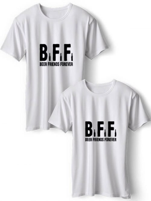 Beer Friends T- Shirts Wit