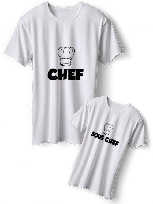 Chef Vader Moeder Dochter T-Shirts