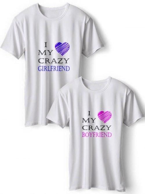 Crazy Girlfriend Koppel T-Shirts