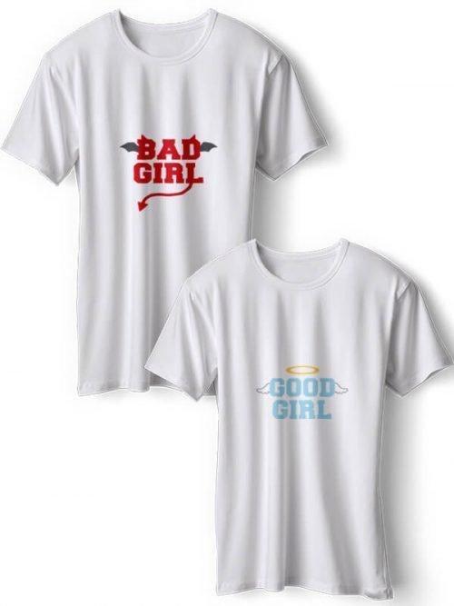 Good Girl Bad Girl Best Friends T- Shirts