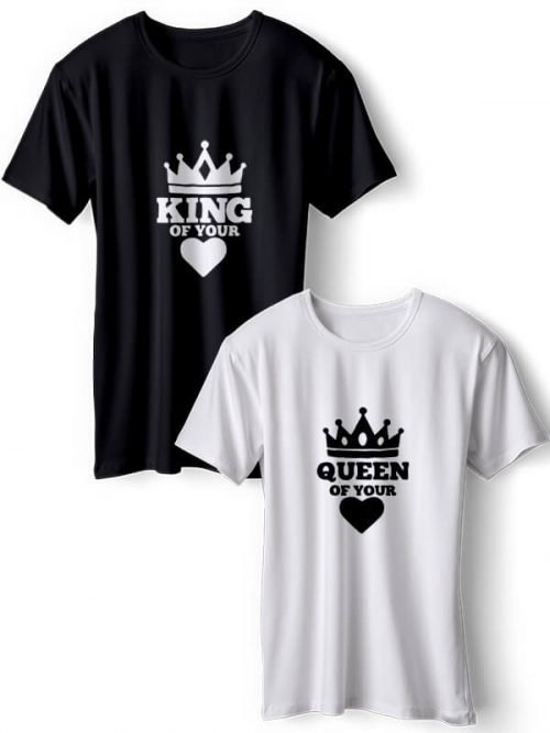 King of Your Heart Koppel T-Shirts