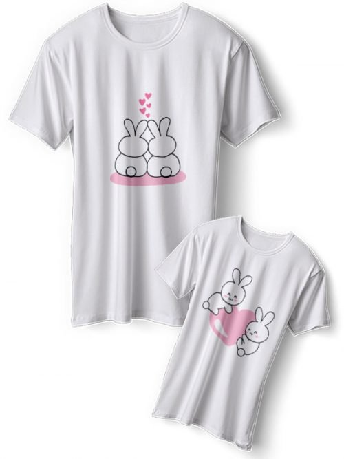 Konijntjes Moeder Dochter Shirts