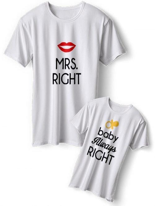 MRS Right Moeder Dochter T-Shirts