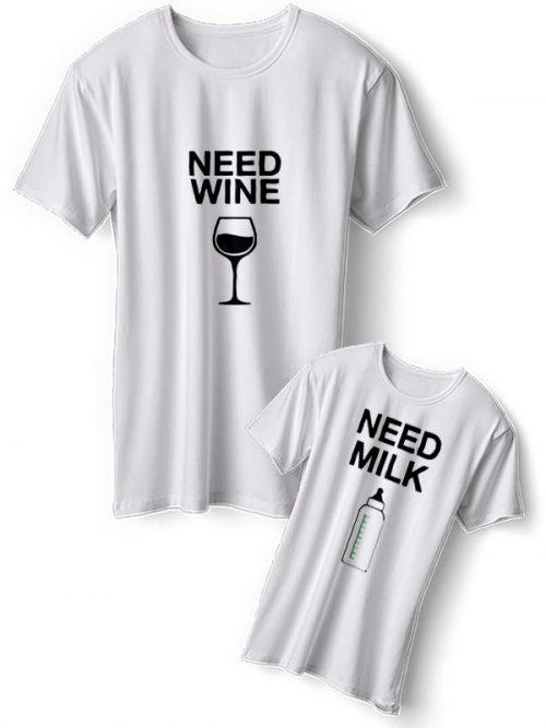 Need Wine Moeder Dochter T-Shirts