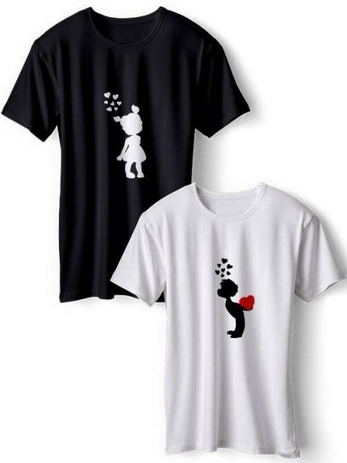 Omhelzing van Liefde Koppel T-Shirts