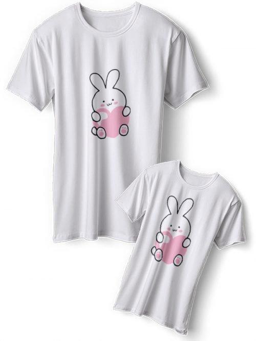 Schattige Konijntjes Moeder Dochter T-Shirts