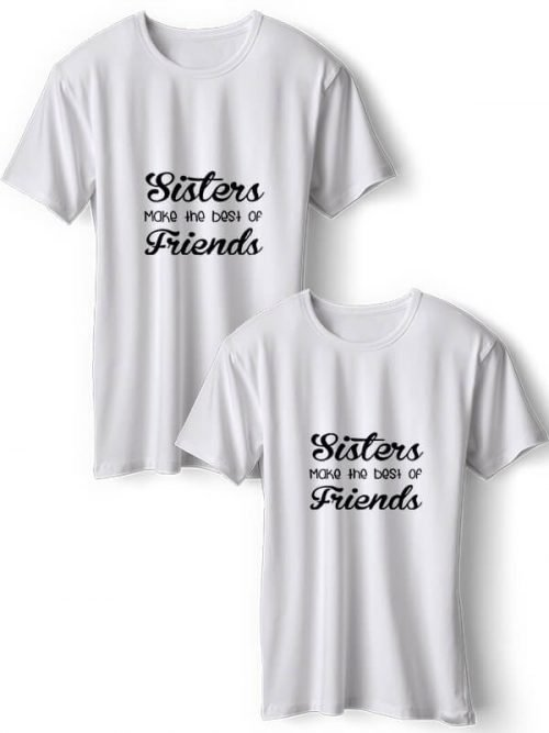 Sisters BFF T-Shirts Wit