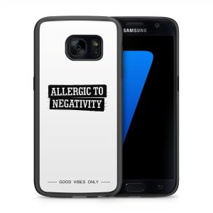 Alergic to Negativity Quote Hoesje 2d