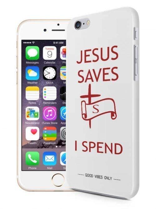 Jesus Saves I Spend Hoesje