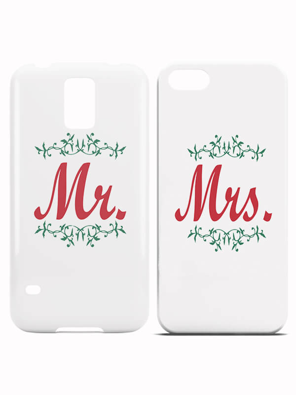 Koppelhoesjes Mr and Mrs Christmas