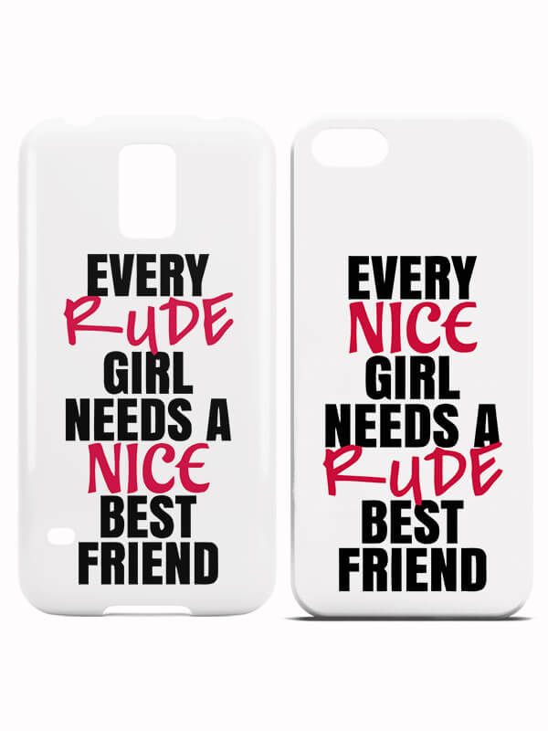 Nice and Rude Best Friends Hoesjes