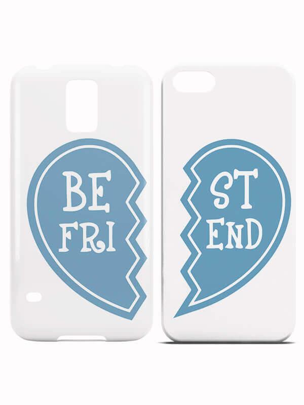 BFF Hoesjes Best Friend Heart Blue