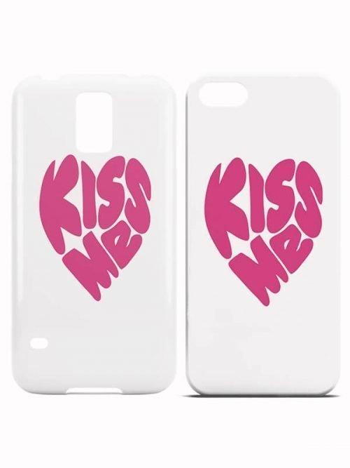 Kiss Me Heart Hoesjes Roze