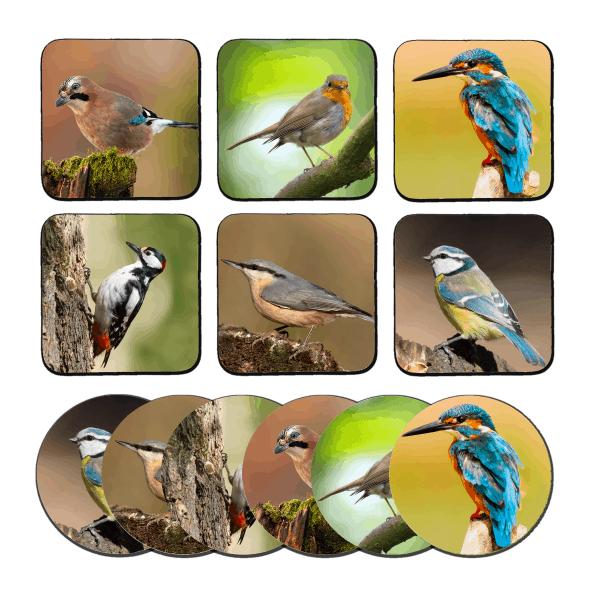 Vogels onderzetters