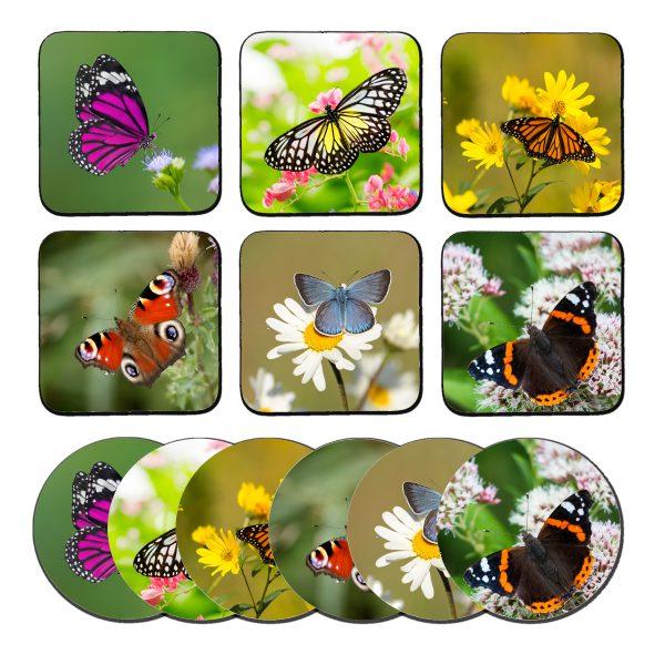 Vlinders onderzetters